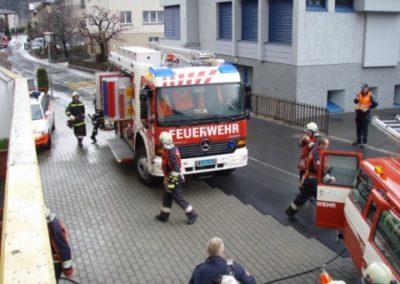 Brand auf Wohnungsterrasse