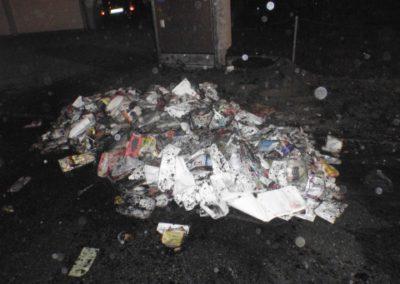 Brand Altpapierhaufen