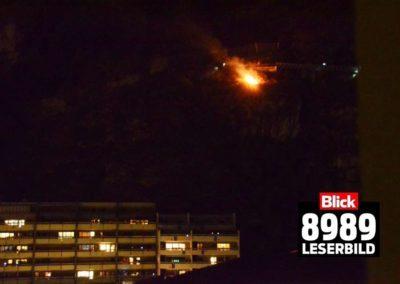 FW Ei 2016032 Böschungsbrand oberhalb Bellevue 001 (Blick)