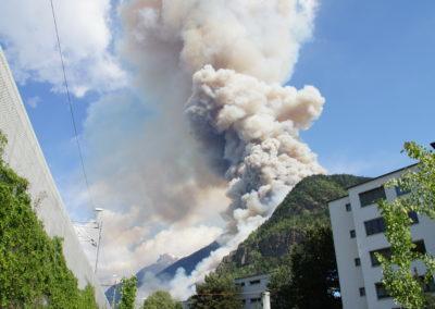 Unterstützung Waldbrand Visp