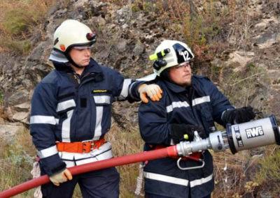 Gesamtübung 2013: Niederschlagen von Gasen