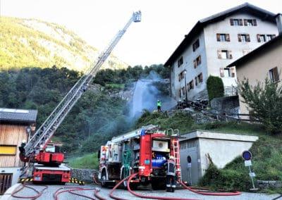 Feuerwehrübung im Schloss
