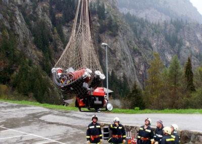 Zugsübung: Hubschraubersimulation in Blatten