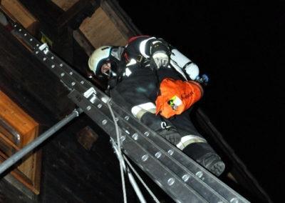 Zugsübung: Leiter- und Rettungsdienst