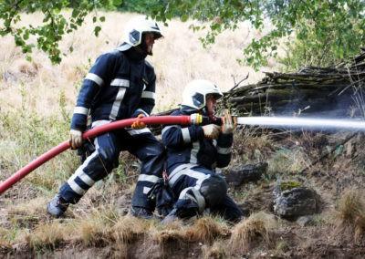 Gesamtübung 2016 zum Thema Waldbrand