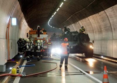 Atemschutzübung im Schallbergtunnel