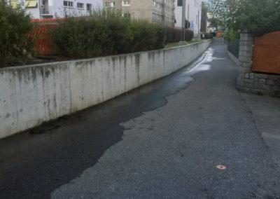 Überschwemmung FO-Weg
